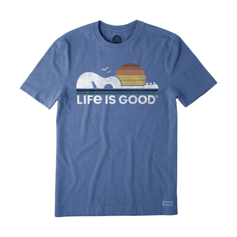 Life Is Good Men's Guitar Dog Crusher Tee HTHVINBLUE