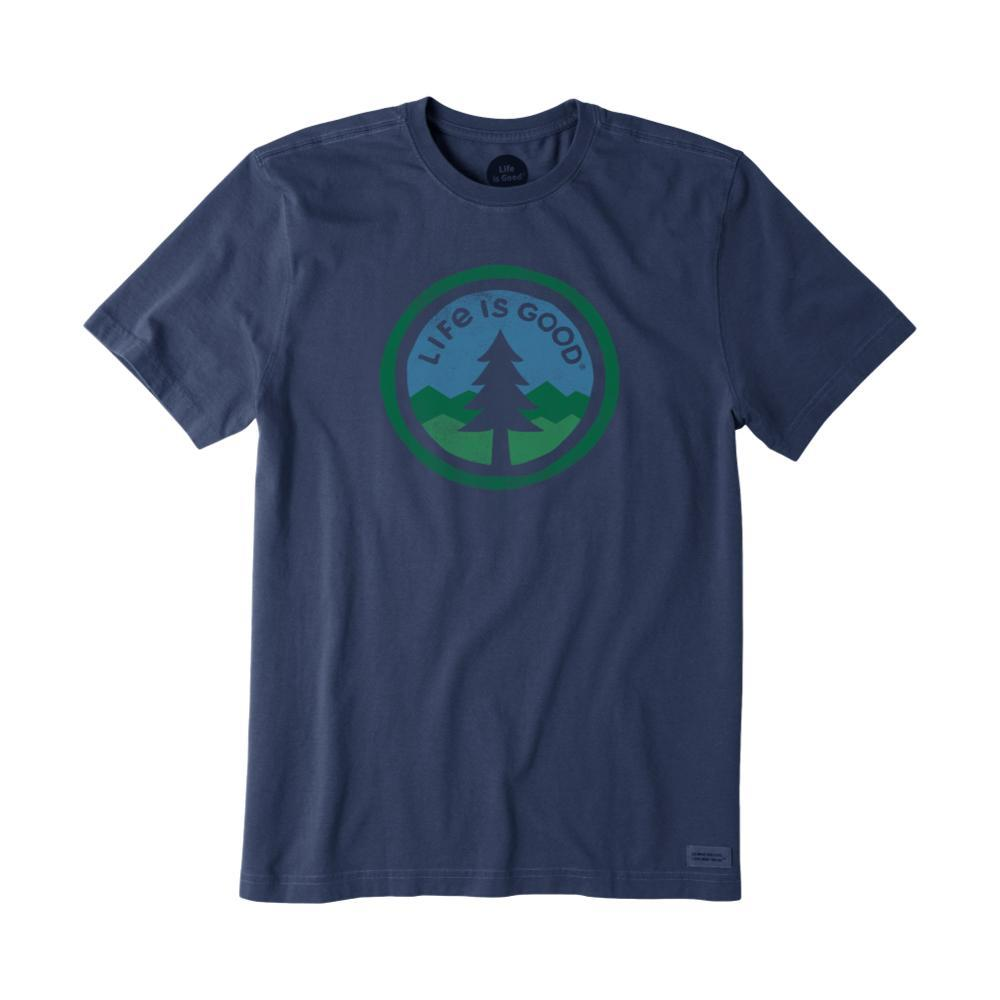 Life Is Good Men's Tree Coin Crusher Tee DARKESTBLU