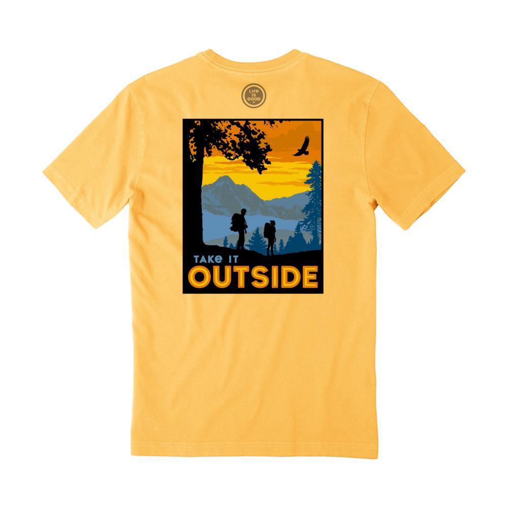 Life Is Good Men's Great Outdoor Camp Crusher Tee BAJAYELLOW