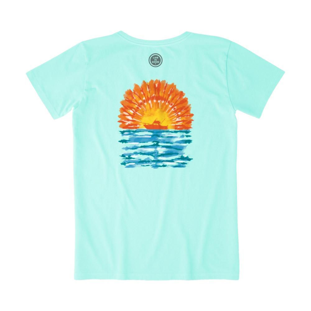 Life Is Good Women's Tie Dye Boating Crusher Tee BERMUDABLU