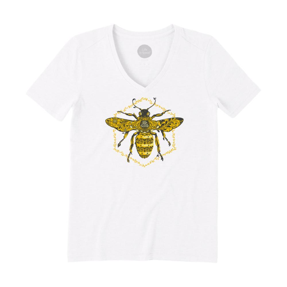 Life Is Good Women's Primal Bee Cool Vee CLOUDWHITE