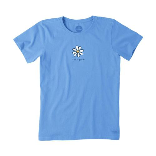 Life Is Good Women's Daisy Vintage Crusher Tee Powderblu