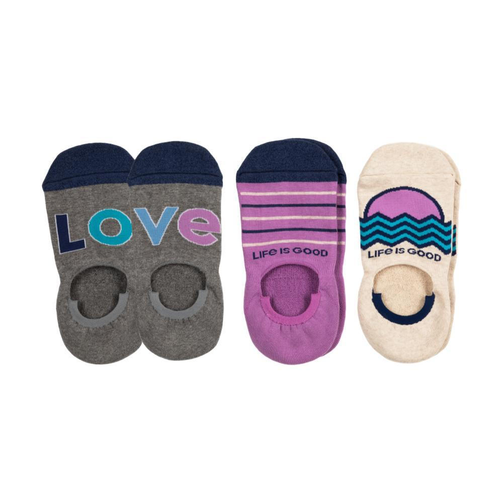Life is Good Women's 3-Pack Love Cushioned Invisible No Show Socks LOVE