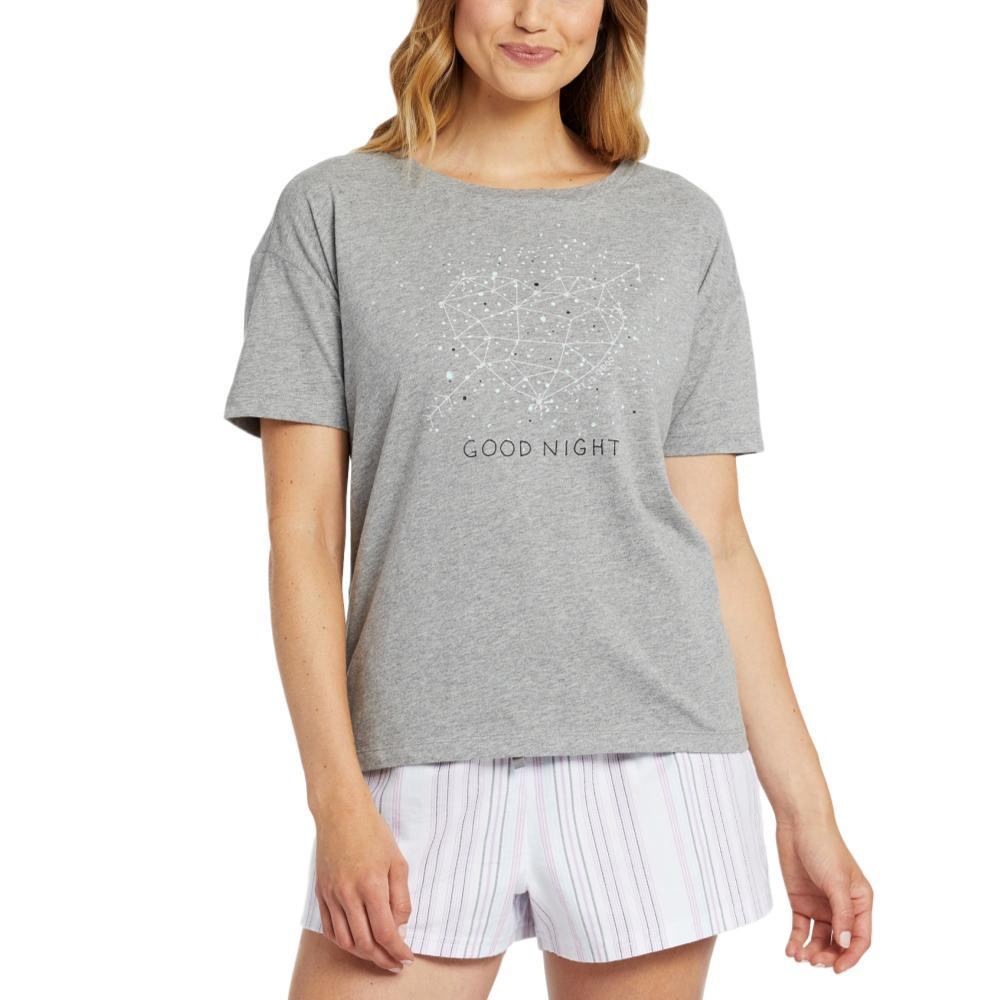 Life is Good Women's Good Night Constellation Snuggle Up Relaxed Sleep Tee HTHRGRAY