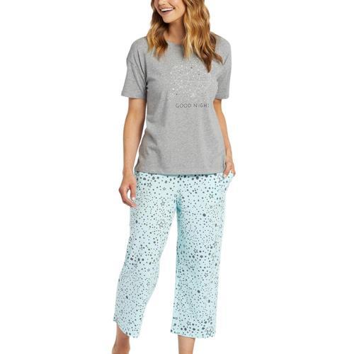 Life is Good Women's Sleep Stars Cropped Sleep Pants Bermuda