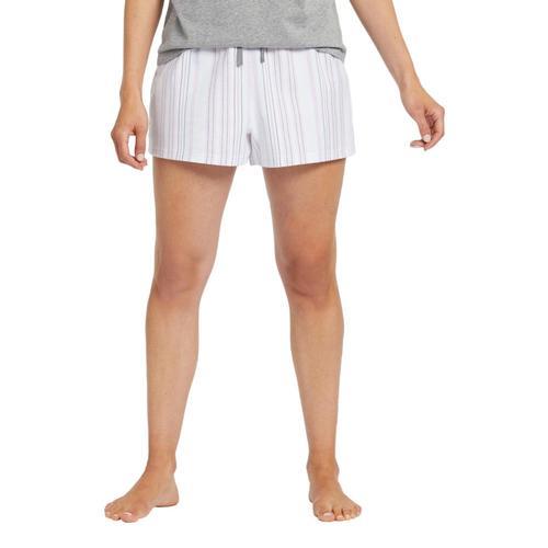 Life is Good Women's Grape Bermuda Stripe Classic Sleep Boxers Cloudwhite