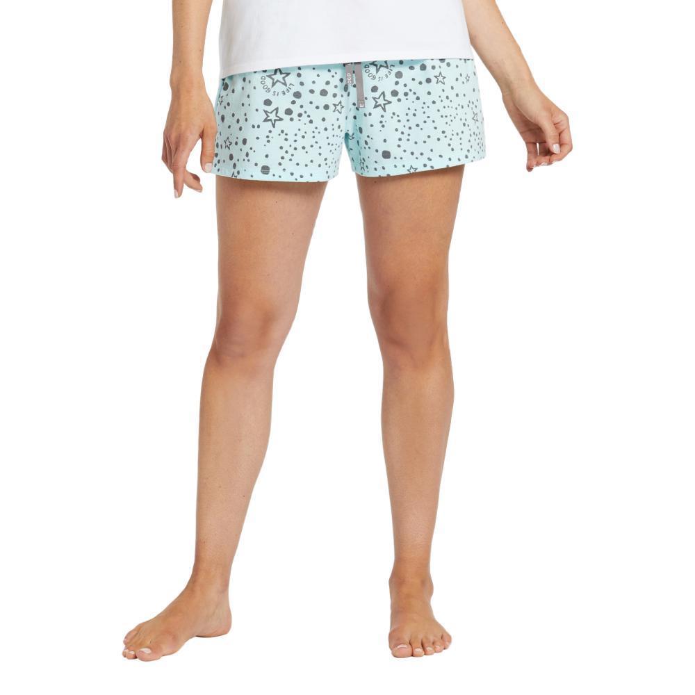 Life is Good Women's Sleep Stars Knit Sleep Shorts BERMUDA