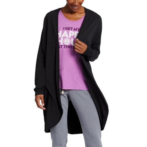 Life is Good Women's D.W.Y.L. Supreme Team Long Cardigan Nightblack