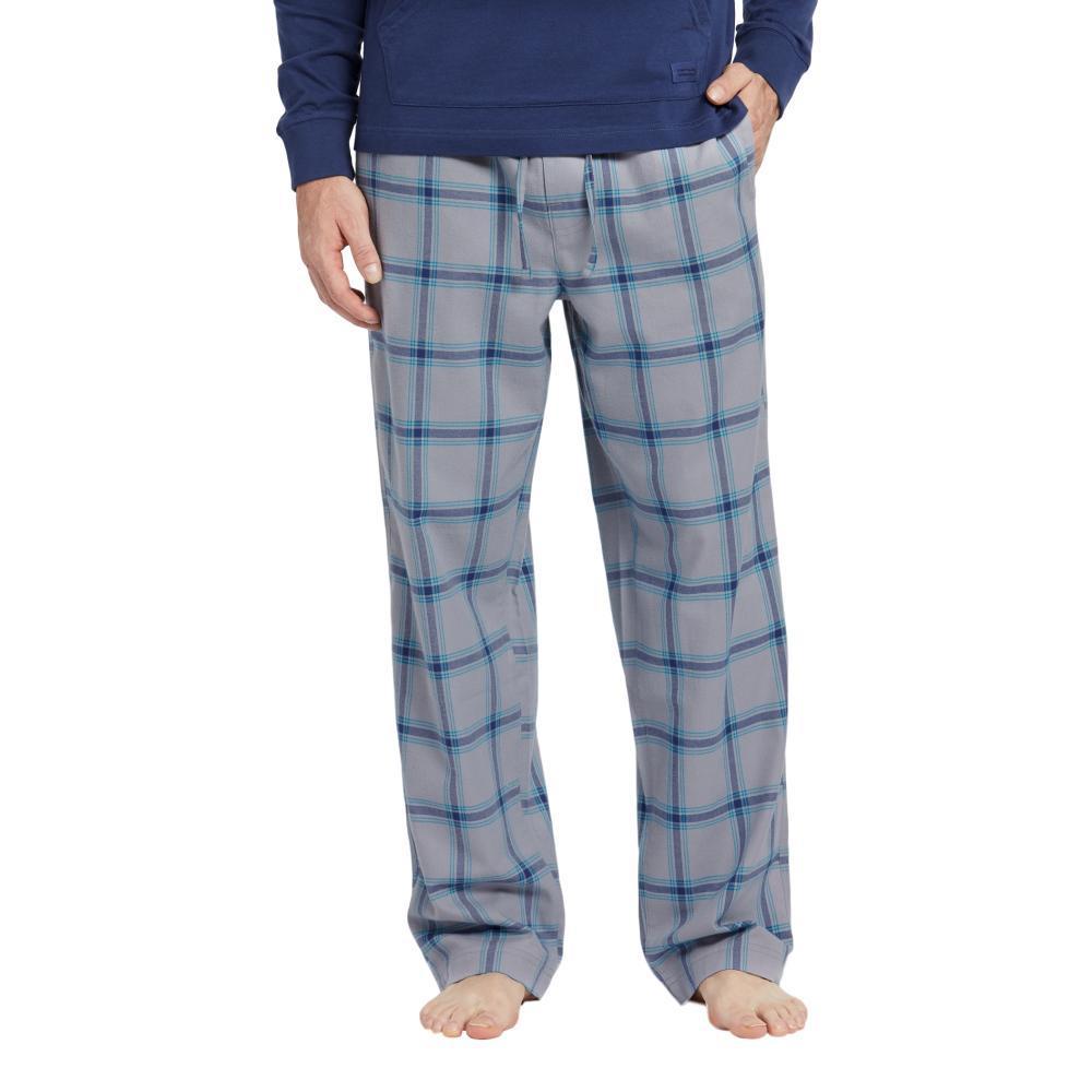 Life is Good Men's Slate Gray Plaid Classic Sleep Pants GRYPLAID