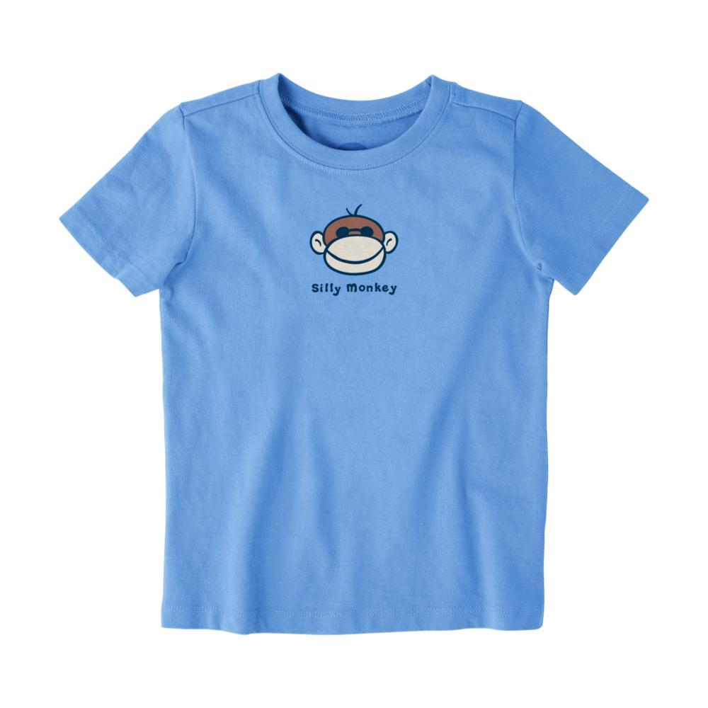 Life is Good Toddler Silly Monkey Vintage Crusher Tee HTHRGRAY