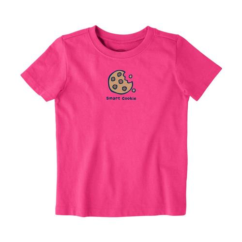 Life is Good Toddler Smart Cookie Vintage Crusher Tee Fiestapink