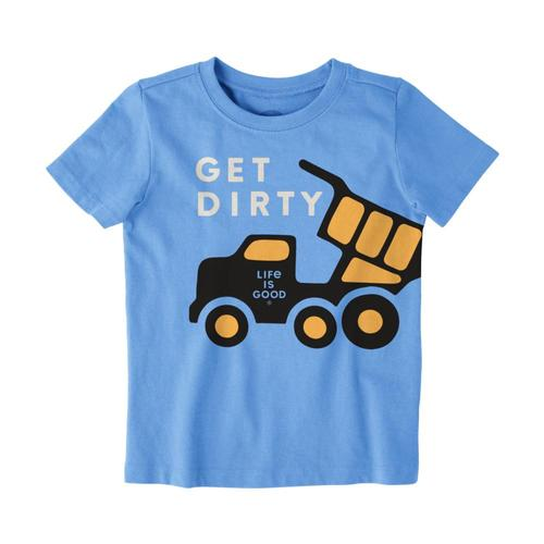 Life is Good Toddler Get Dirty Crusher Tee Pwdrblue