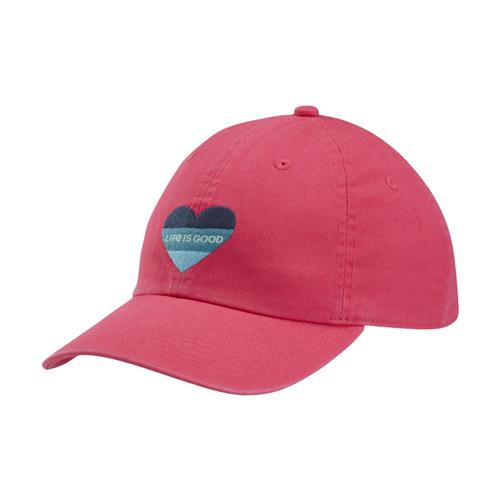 Life is Good Kids Color Block Heart Chill Cap Poppink