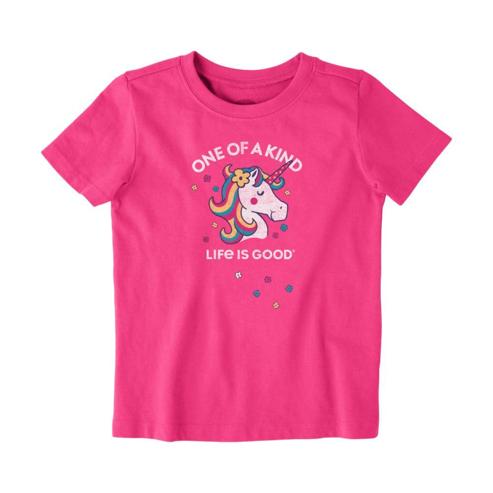 Life is Good Toddler One Of A Kind Crusher Tee FIESTAPINK