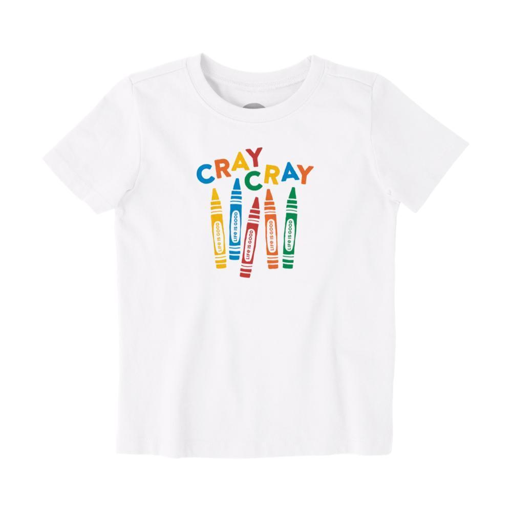 Life is Good Toddler Cray Cray Crusher Tee CLOUDWHITE
