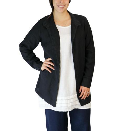 FLAX Women's Dame Blouse Black