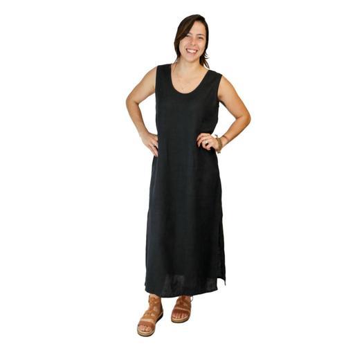 FLAX Women's Slipster Dress Black