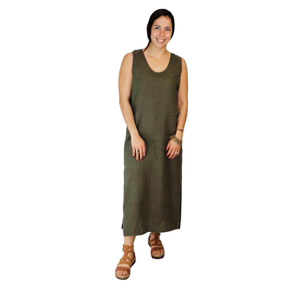 FLAX Women's Slipster Dress HERB