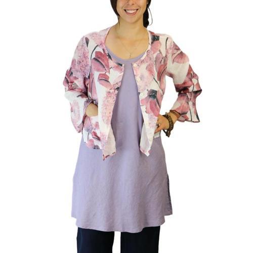 FLAX Women's Petal Cardi Hydrangea
