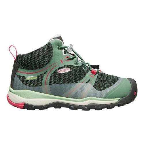 KEEN Big Kids Terradora Waterproof Mid Shoes Dkgreen
