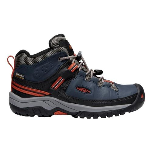 KEEN Youth Targhee Mid Waterproof Hiking Boots Bluenight