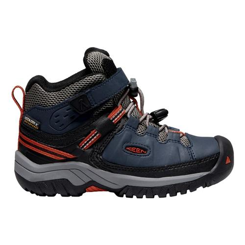 KEEN Kids Targhee Mid Waterproof Hiking Boots Bluenight