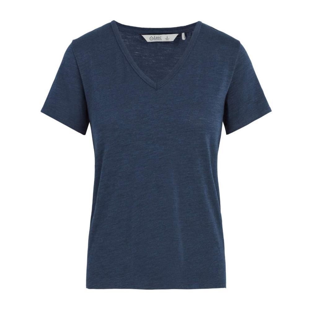 tasc Women's St. Charles V-Neck T Shirt NAVY
