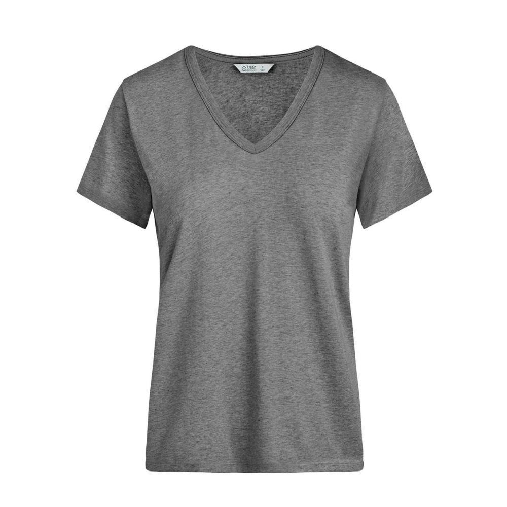 tasc Women's St. Charles V-Neck T Shirt GREY
