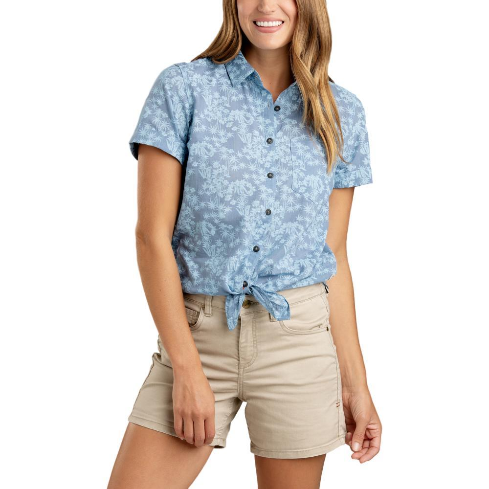 Toad&Co Women's Indigo-For-It Short Sleeve Shirt LTINDIGO
