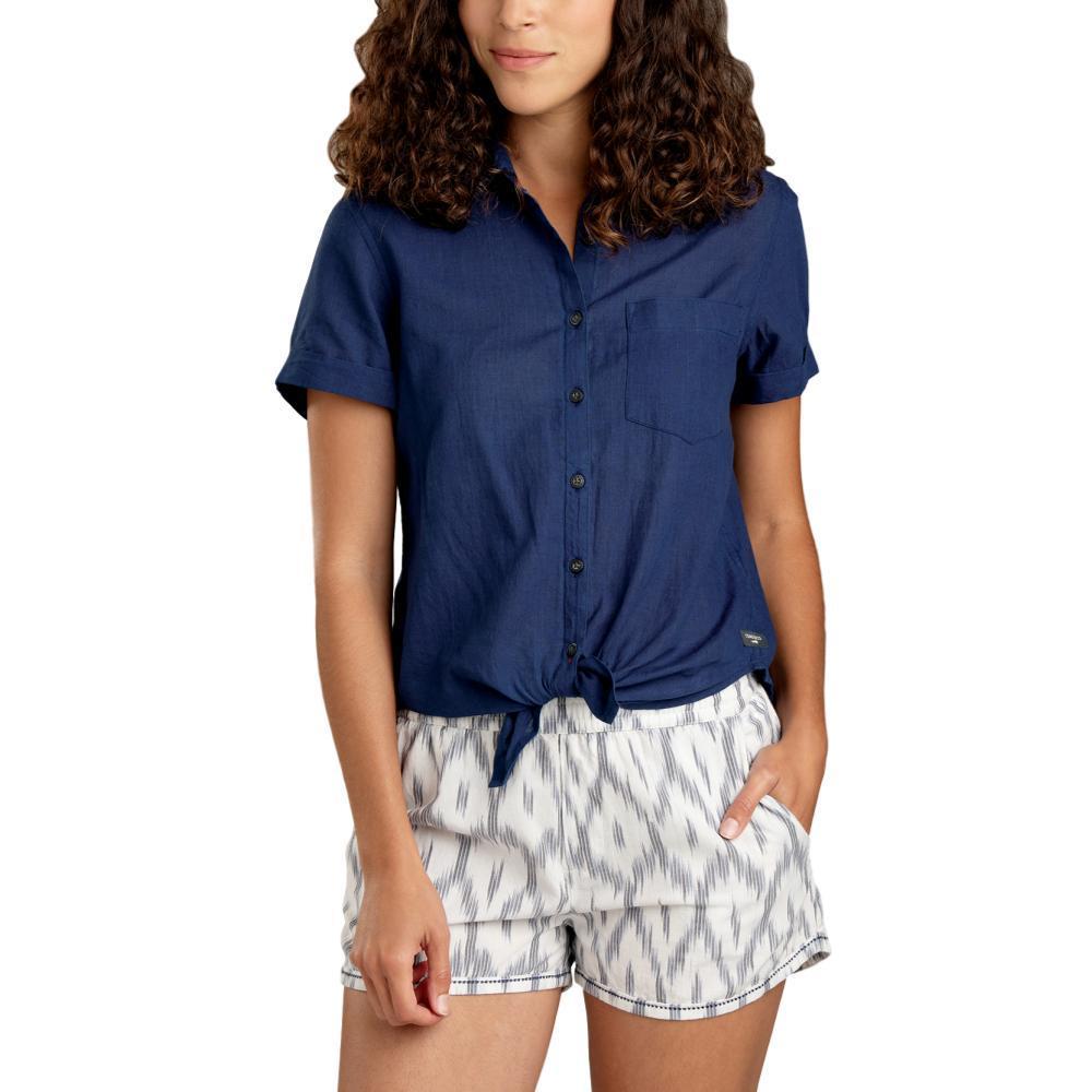Toad&Co Women's Indigo-For-It Short Sleeve Shirt MEDINDIGO