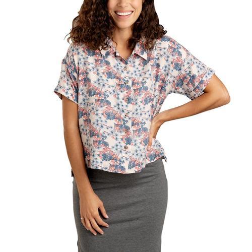 Toad&Co Women's Hillrose Short Sleeve Shirt Pinksand