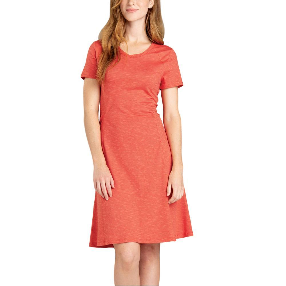 Toad&Co Women's Windmere Short Sleeve Dress CORAL
