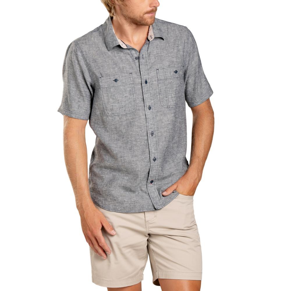 Toad&Co Men's Taj Hemp Short Sleeve Slim Shirt DNVYCHAMB