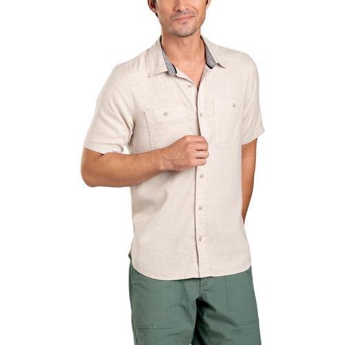 Toad&Co Men's Taj Hemp Short Sleeve Slim Shirt Oatchamb