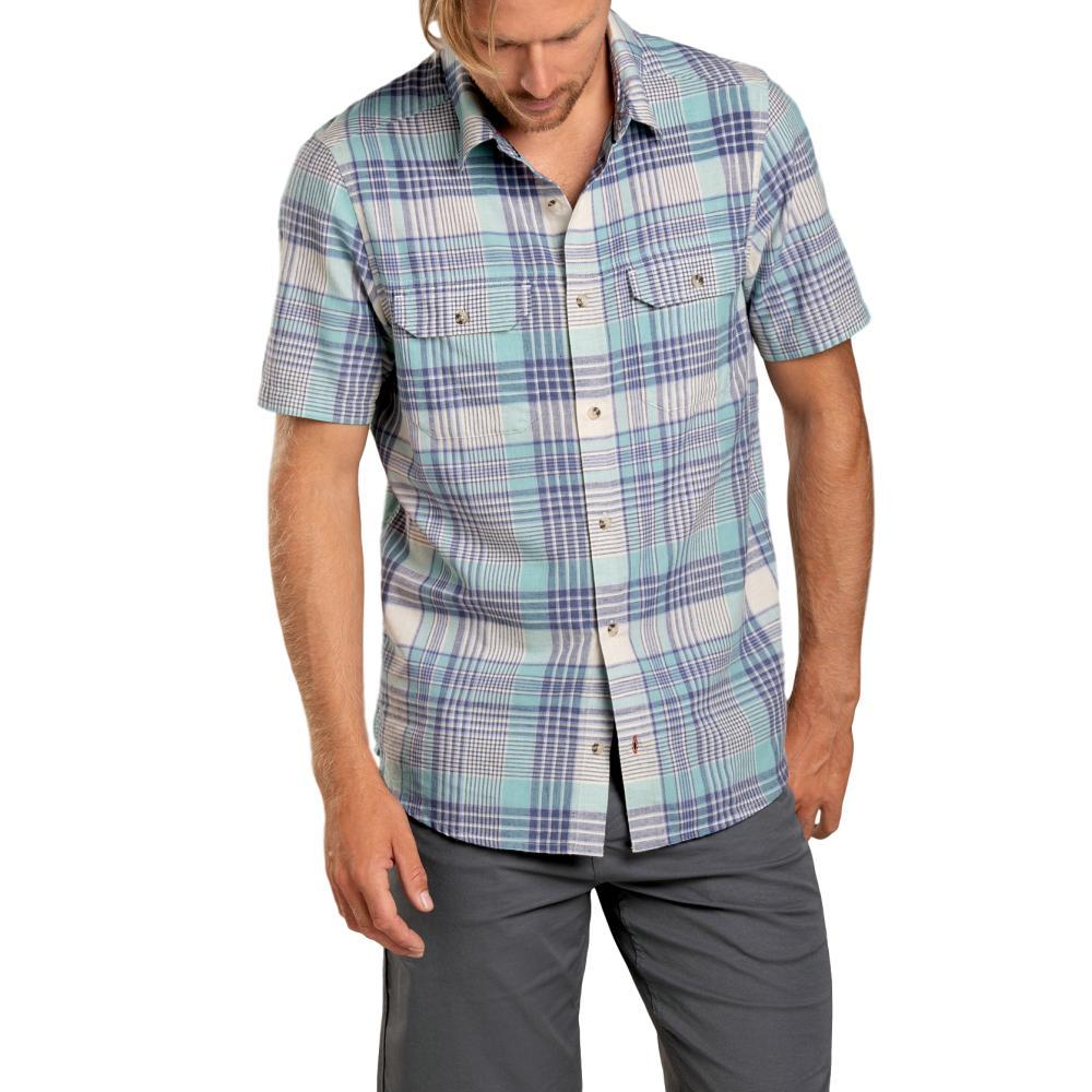 Toad&Co Men's Hookline Short Sleeve Shirt AQUIFER