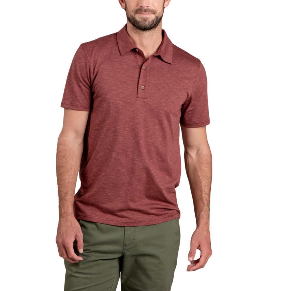 Toad&Co Men's Tempo Short Sleeve Polo HENNA_625