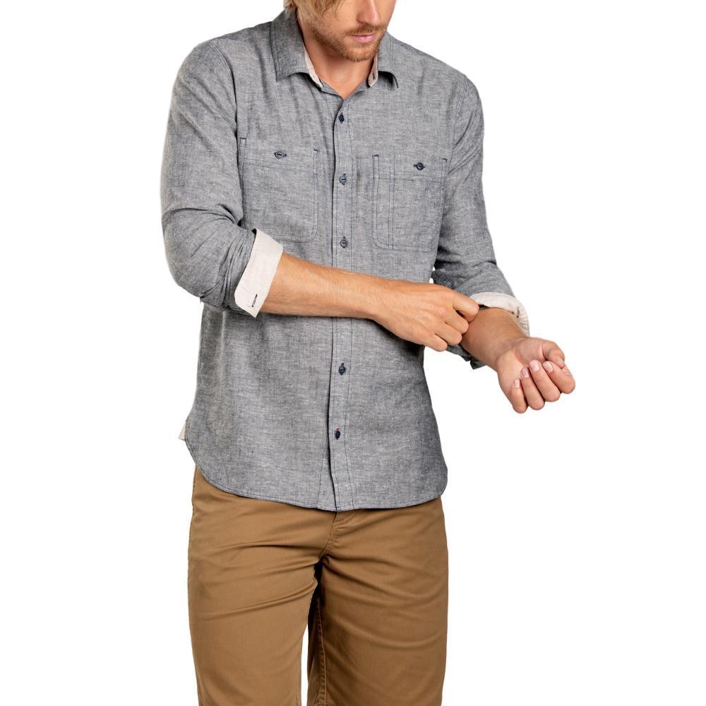 Toad&Co Men's Taj Hemp Long Sleeve Slim Shirt DNVYCHAMB