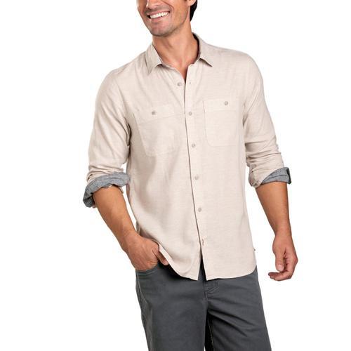 Toad&Co Men's Taj Hemp Long Sleeve Slim Shirt Oatchamb