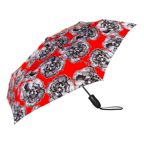 ShedRain Windjammer Vented Auto Open Auto Close Fashion Print Compact Wind Umbrella Hatchure