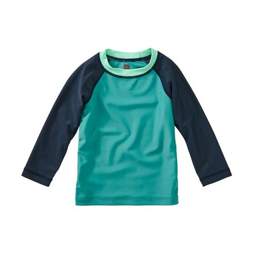 Tea Collection Colorblock Long Sleeve Baby Rash Guard Laguna