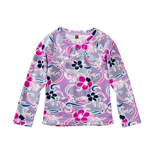 Tea Collection Girls Printed Long Sleeve Rash Guard Batikflorl