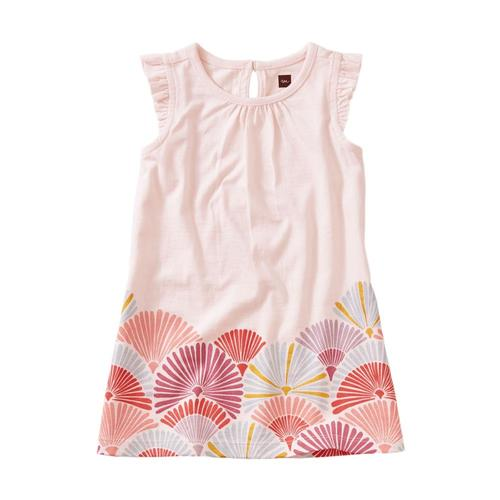 Tea Collection Border Graphic Baby Dress Silkworm