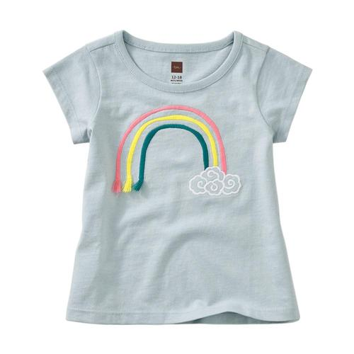 Tea Collection 3D Rainbow Baby Graphic Tee Sky