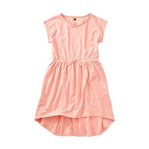 Tea Collection Girls Sparkle Hi-Lo Tie Waist Dress Glimmering