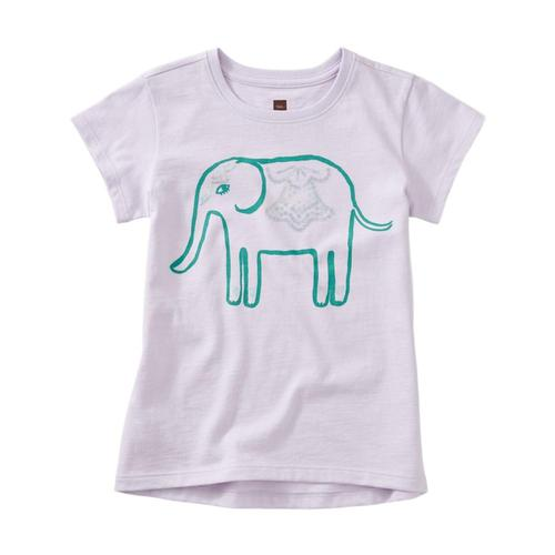 Tea Collection Girls Elephant Graphic Tee Verbena
