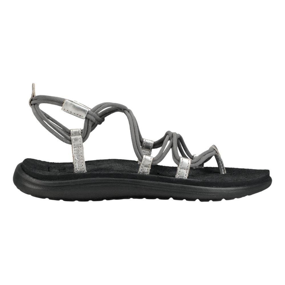 Teva Women's Voya Infinity Metallic Sandals GRYSLV_GRSL