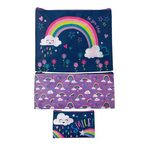 Stephen Joseph Recycled Bag Set Rainbow18