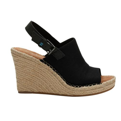 TOMS Women's Black Oxford Monica Wedges Blkhemp