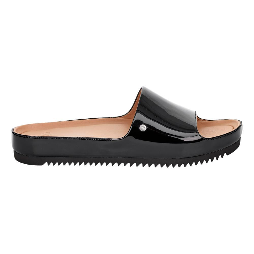 UGG Women's Jane Patent Slide Sandals BLK_BLK