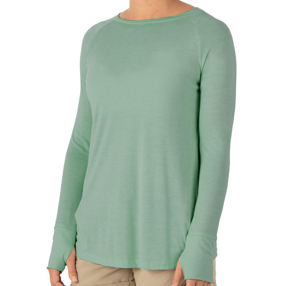 Free Fly Women's Weekender Long Sleeve Shirt KEYSGREEN